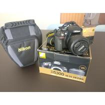 Câmera Nikon D5300+35 Mm +bolsa+16gb C/10+tripé + 1 Bateria