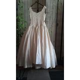 Vestido Noiva Pérola Com Grinalda E Luvas