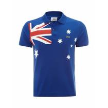 Camiseta Lacoste Polo Paises Australia - Masculina