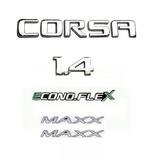 Kit Emblemas Corsa Maxx 1.4 Econoflex Verde 2008 2009 2010
