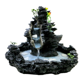 Fonte De Água Imita Pedra Cascata Frete Grátis