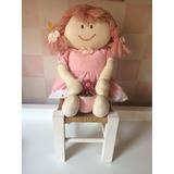 Enfeite Quarto De Menina: Boneca De Pano Com Cadeira