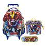 Kit Os Vingadores Mochilete G + Lancheira + Estojo Ref 6270