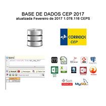 Base Cep Com Ibge + Latitude + Ddd - Fev 2017