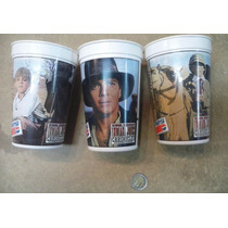 Lote De 3 Vasos Pepsi Indiana Jones Chronicles Diferentes