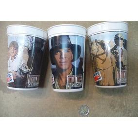 Lote De 3 Vasos Pepsi Indiana Jones Chronicles Diferentes