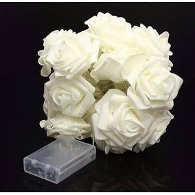Lindo Arranjo Flores Rosa Decorativa Iluminação Led Branca