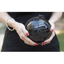 Bolsa Clutch Chanel Globe Original Brinde Brinco Chanel