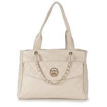 Bolsa Shopping Bag Em Couro Cesaretti - Gelo U