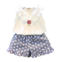 Conjunto Luxo Infantil Menina Shorts Poa E Blusa C Detalhe