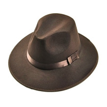Sombrero Ala Ancha Vintage Estilo Indiana Jones Cafe