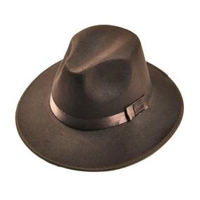 Sombrero Ala Ancha Vintage Estilo Indiana Jones Cafe D-669