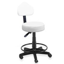 Cadeira Mocho Podologio E Estetica Com Apoio Pes Branco