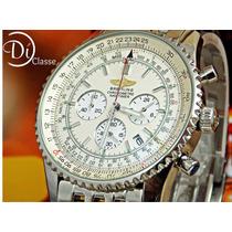 Reloj Breintling Cara Blanca Acero