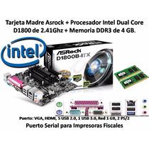 Combo Tarjeta + Procesador Dual Core Intel +4gb Memoria Ddr3