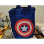 Bolsa Tecido Herói Capitão América Desenhos Animados