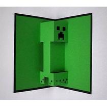 Convite Minecraft Silhouette Scrapbook Digital Festa