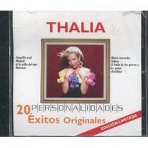 Thalia Disco Cd Personalidades. 20 Exitos Originales