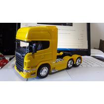 Miniatura Scania R730 Trucado - + Carreta Welly- Escala 1:32