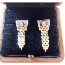 Par De Broqueles Dos Oros Cinturon Con Diamantes