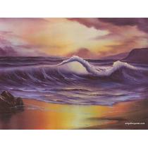 Pintura Al Oleo 45 X 60 Cm Técnica Bob Ross