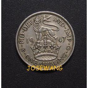 Shilling . Moneda De Gran Bretaña Del Año 1947