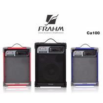 Caixa De Som Frahm Amplificada Ca-100 Usb Sd Fm Preta