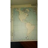 Mapa Continente Americano - Contorno. Block Por 40 Mapas Nº3