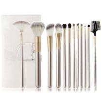 Kit 12 Pinceles Brochas Maquillaje Profesional + Estuche