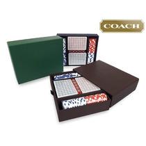 Estuche Juego De Cartas Fichas Poker Coach 100% Original