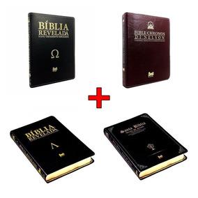Kit Di Nelson 4 Bíblias Chronos + Alpha At +omega Nt +santa
