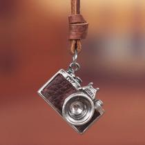 Acessorio Masculino Colar Em Couro Camera Fotografica Photo