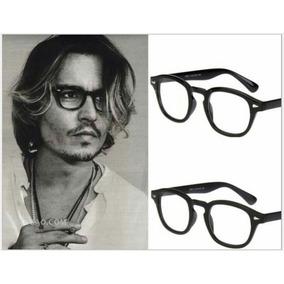 Armação De Óculos Grau Estilo Johnny Depp Tortoise Acetato