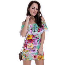 Vestido Ombro Caído De Viscolycra - Kam Bess - Ve1256