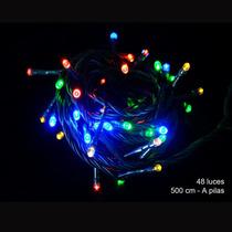 Luces Leds De Navidad 48 Focos Con 8 Funciones Multicolor