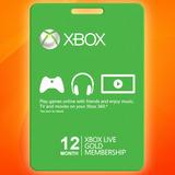 Xbox Live Gold 12 Meses Membresia Envio Gratis, Mejor Precio