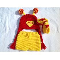 Gorros De Chapulín Colorado Tejida A Crochet Otros Personaj