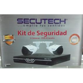 Kit De Seguridad Secutech 4 Canales 2 Camaras