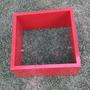 1 Nicho Cubo De Parede 30x30x15cm Mdf Vermelho