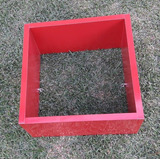 1 Nicho Cubo De Parede 30x30x20cm Mdf Vermelho