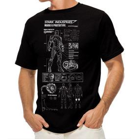 Playera Camiseta Iron Man Planos De Traje Stark Companies