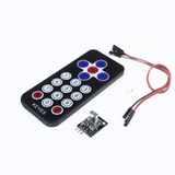 Kit Controle Remoto Ir+receptor+cabos P/ Arduino +bateria