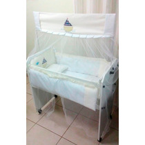 Mini Berço + Kit Mini Berço Menino Menina 9 Pçs Enxoval Bebê