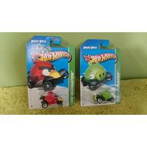 Hot Wheels Lote 4 Pzas, Angry Birds Y Star Trek, 1/64
