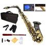 Saxofon Alto Mendini Lacado En Negro Mi Bemol Envio Gratis