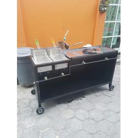Freidora Doble Con Plancha 100×50 Acero Inox