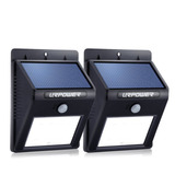 Lampara Solar Para Patio 2pcs Con Sensor