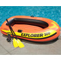 Barco Bote Inflável Explorer 300 P/ 3 Pessoas Ou 186kg Intex