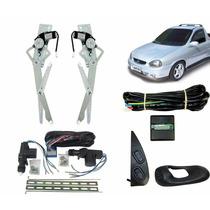 Kit Vidro Elétrico Corsa Pick-up + Trava Universal + Alarme