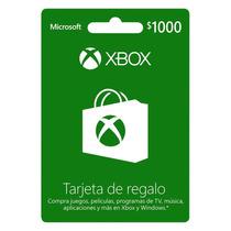 Dinero Xbox Live $1000 Envio Rapido